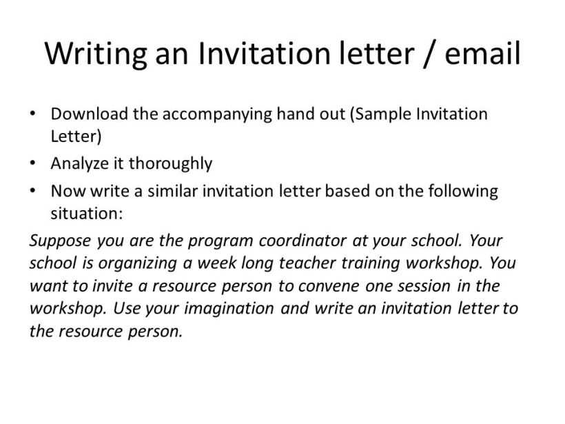social interactions inviting responding to invitations ppt invitation letter format for training session inspirationa valid sample gogeorgia co new