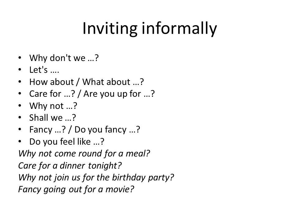 social interactions inviting