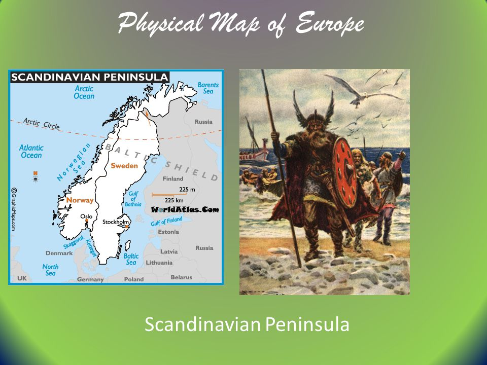 Physical Map of Europe 1 Ural Mountains    ppt video online download 4 Scandinavian Peninsula