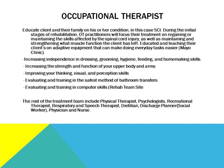 Occupational Therapy Frame Of Reference For Spinal Cord Injury ...