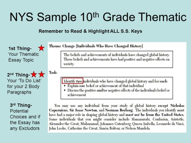 Thematic Essay Us History Regents Example Creativecard Co