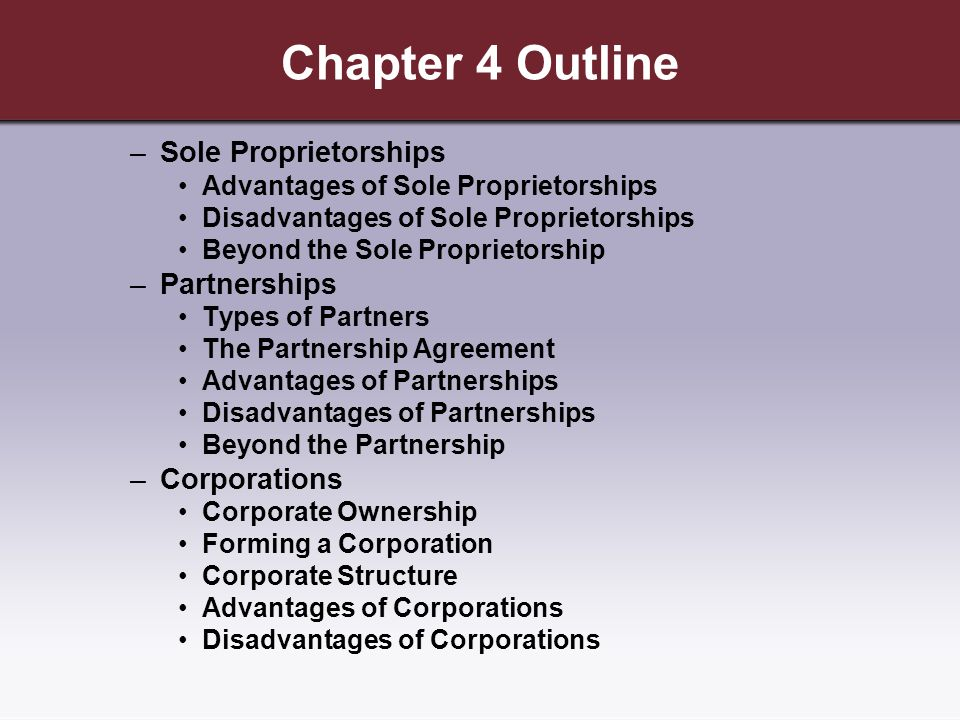 Choosing A Form Of Business Ownership Ppt Download