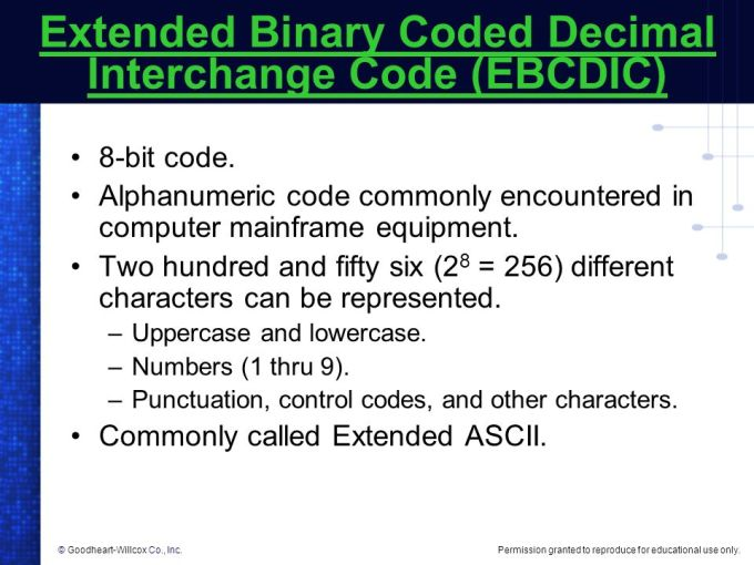 Mainframe Computers Use The Binary Code Ebcdic | Viewframes co