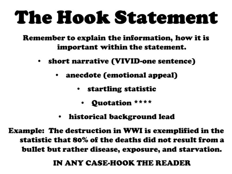 how to write a hook sentence