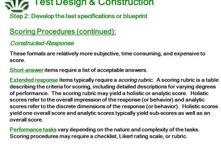 Construction of achievement test and blueprint full hd maps blueprint of exam questions blueprint planning an achievement test and assessment analysis planning an achievement test how to create a test blueprint malvernweather Gallery
