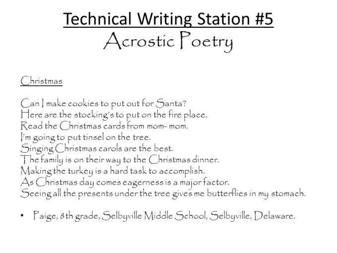 christmas acrostic poem ppt christmaswalls co