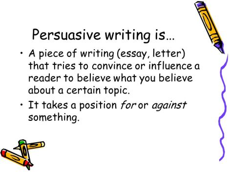Image result for persuasive writing
