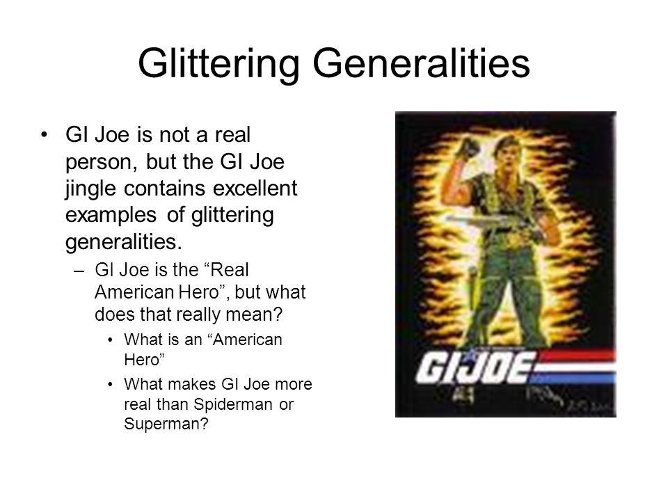 Glittering Generalities Examples Sports