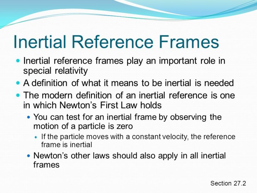 Inertial Frame Of Reference Meaning | Amtframe.org