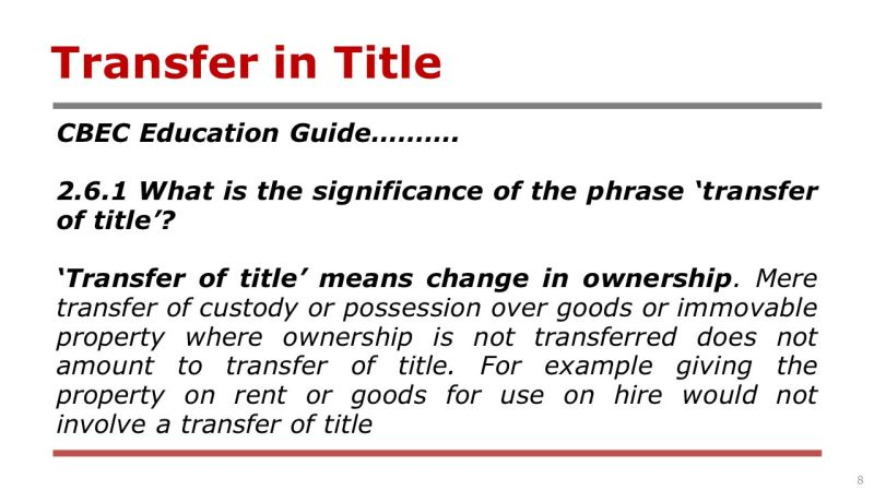 Image result for transfer of title MEANS