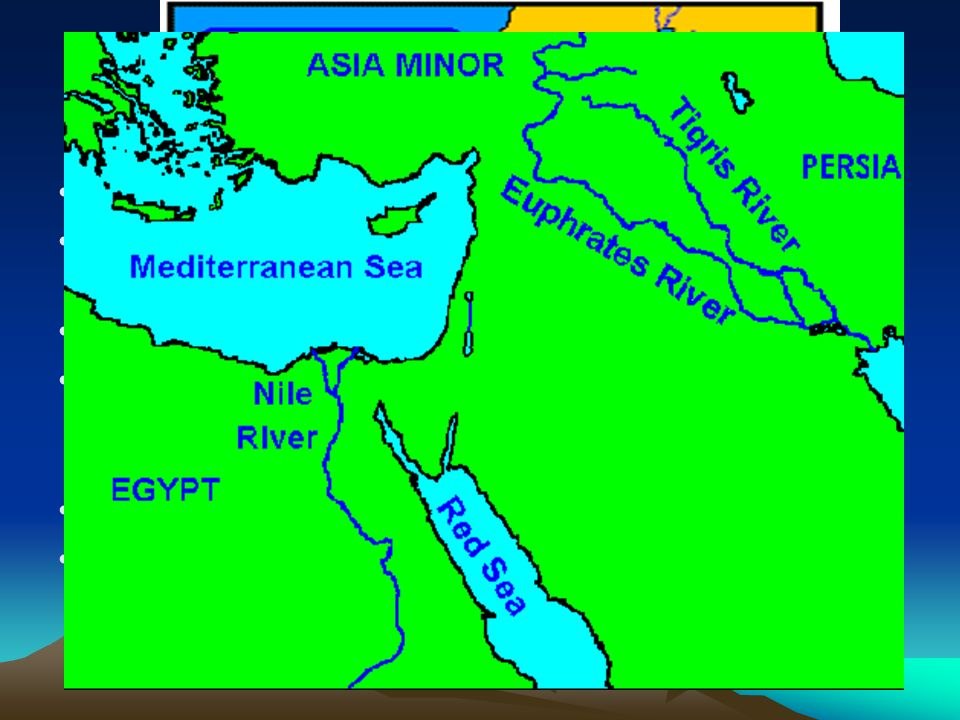 Physical Map Euphrates River Iraq