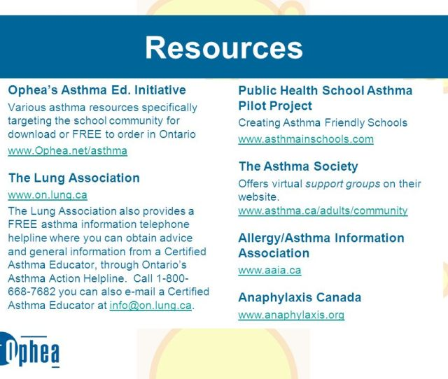 Resources Opheas Asthma Ed Initiative