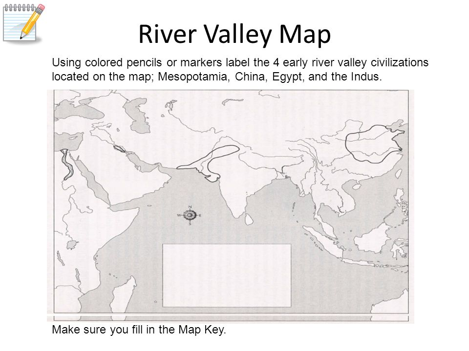 Early River Valley Civilizations Outline Map 4k Pictures 4k