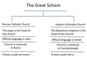 The Great Schism  ppt video online download