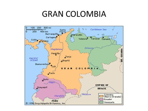 Image result for 1819 – Simón Bolívar declares the independence of Gran Colombia