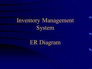 Inventory Management System  ppt video online download