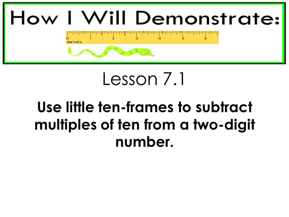 Ten Frame Subtraction Lesson | Siteframes.co