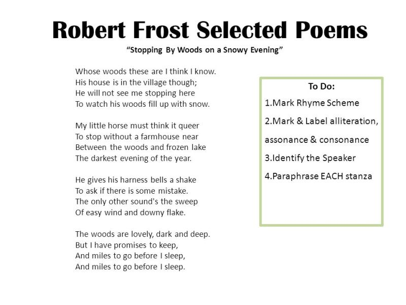 Symbolism Poems By Robert Frost Poemsrom