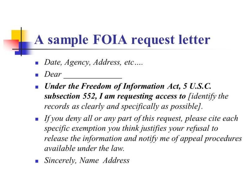 freedom of information act request form letter poemdoc or