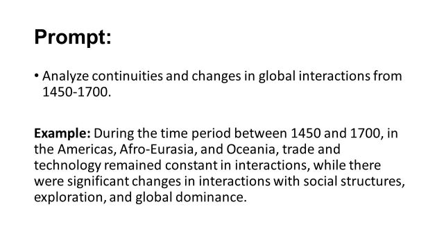 The CONTINUITY and CHANGE OVER TIME ESSAY - ppt video online download