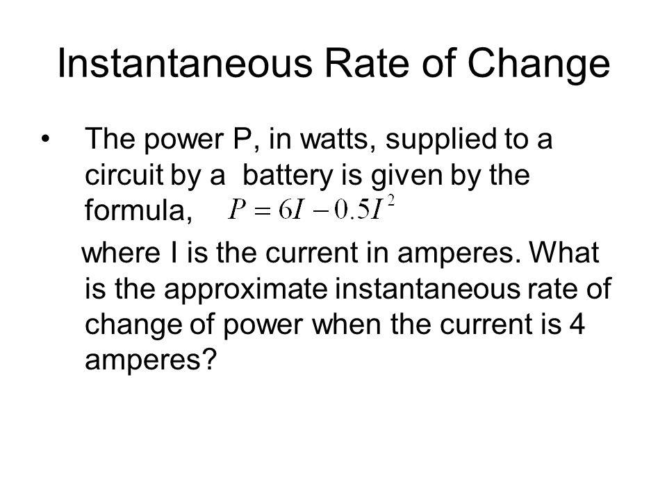Instantaneous Rate Of Change Equation | Unixpaint