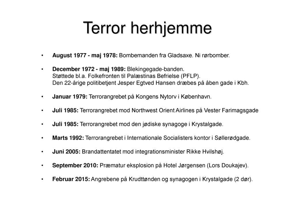 Terror I Tiden