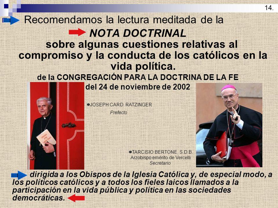 Resultado de imagen para compromiso y la conducta de los católicos en la vida política