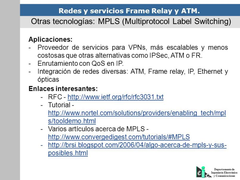 Tecnologias Ethernet Frame Relay Atm And Mpls | Frameswalls.org