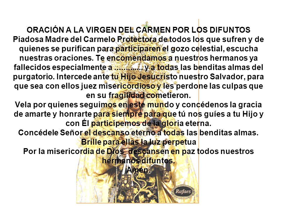 Carmen Virgen Oraciones Del Su En La Dia