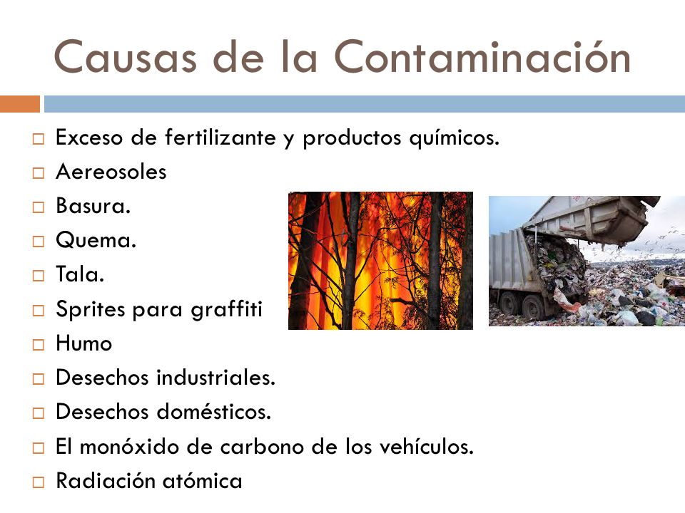 La Del Contaminacion Ambiente Medio