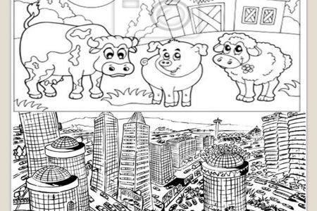 Dibujos Para Colorear De Ciudad Y Campo picture gallery