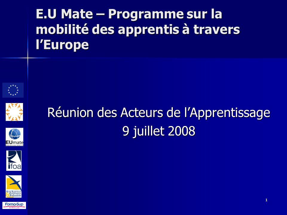 EU Mate Programme Sur La Mobilit Des Apprentis