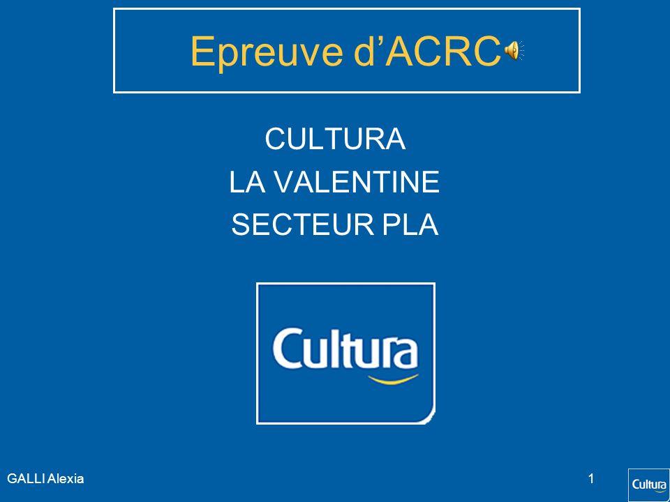 Epreuve DACRC CULTURA LA VALENTINE SECTEUR PLA GALLI