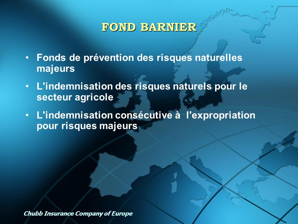 CHUBB INSURANCE COMPANY OF EUROPE Ppt Tlcharger