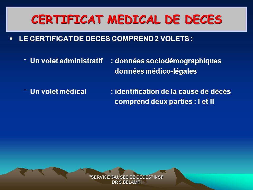Certification Des Causes Medicales De Deces Ppt Video Online