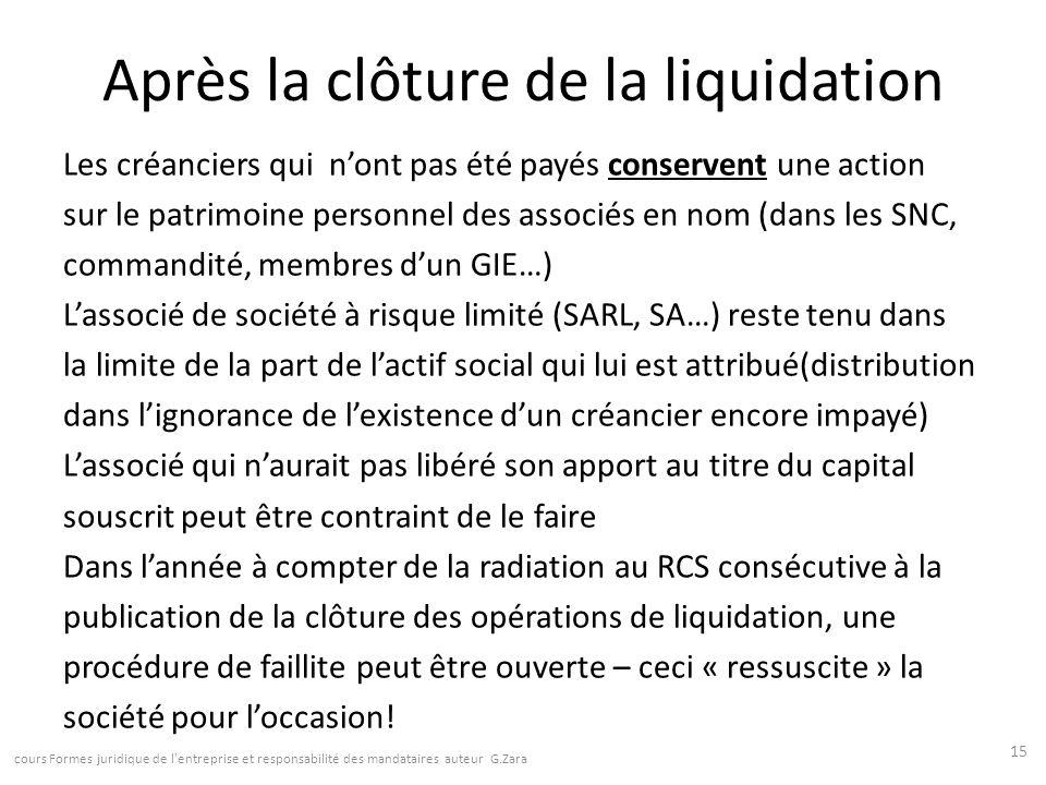 la liquidation des societes ppt