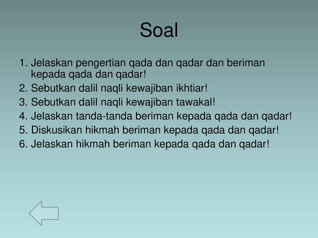 Apa Pengertian Qada Dan Qadar