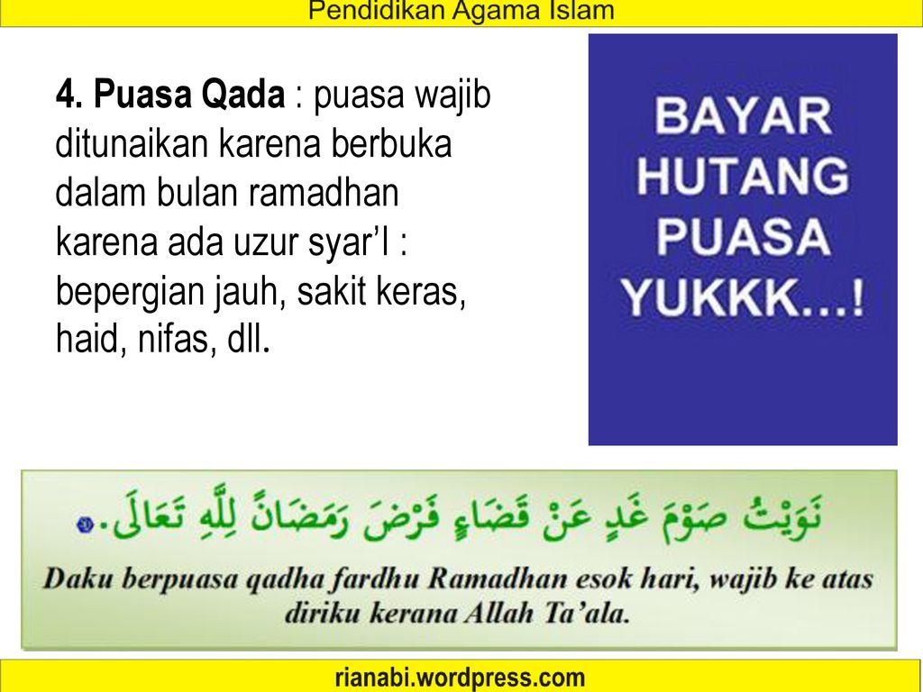 Puasa Wajib Dan Puasa Sunah Ppt Download