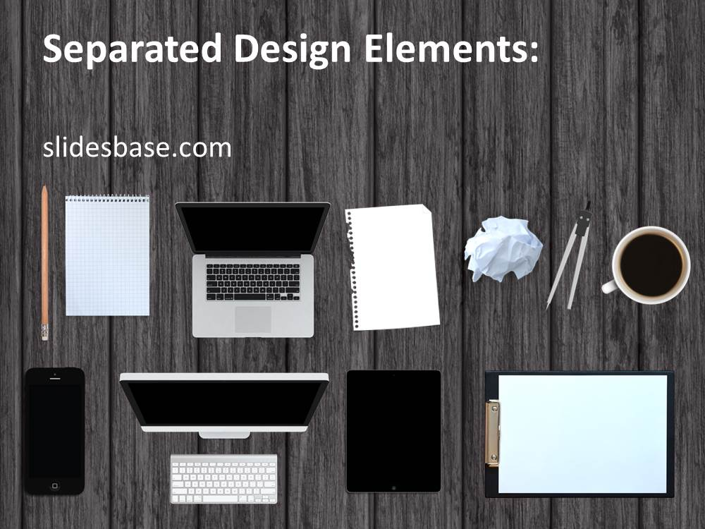 Work Desk PowerPoint Template Slidesbase
