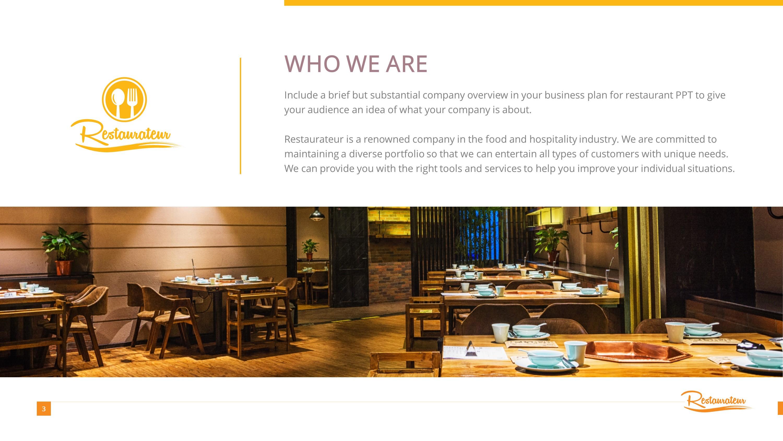 Restaurant Business Premium PowerPoint Template SlideStore