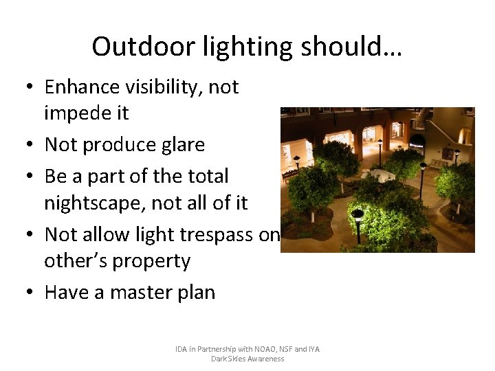 outdoor lighting and how it affects