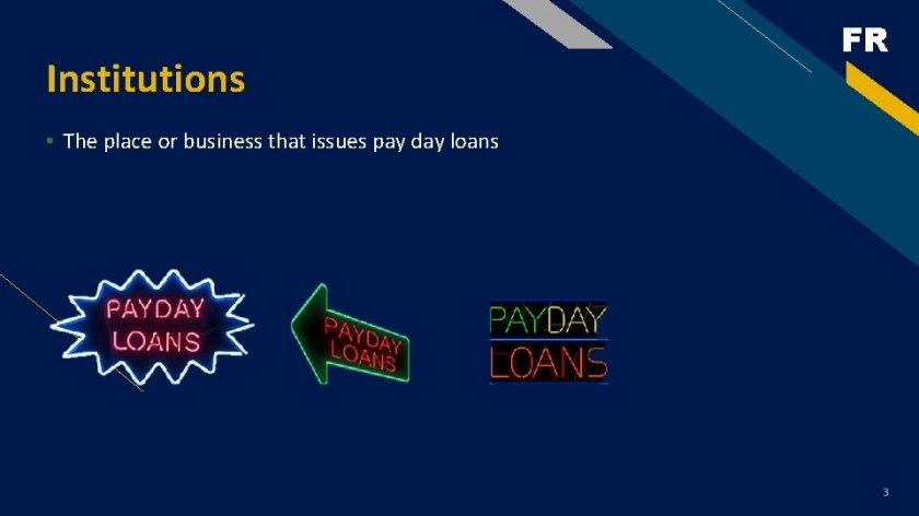 four weeks pay day lending products
