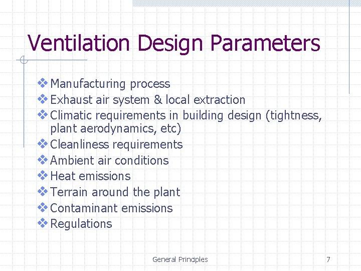industrial ventilation general