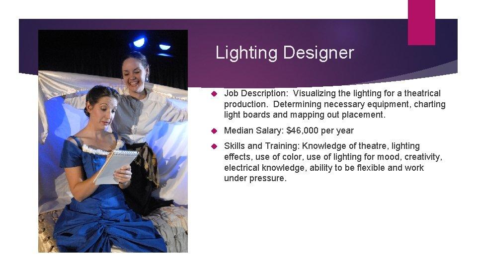 lighting designer job description