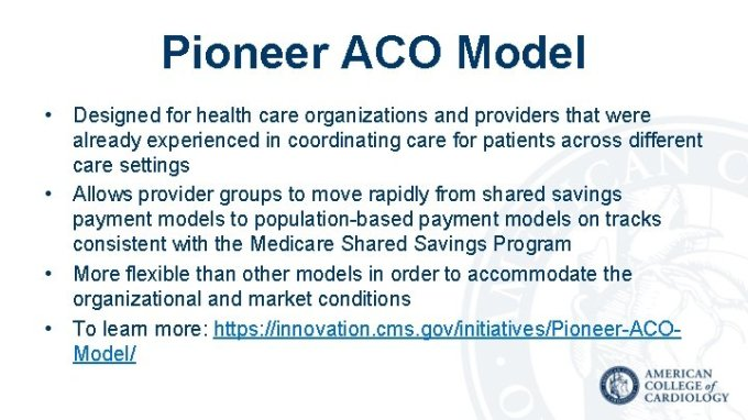 Types Of Medicare Aco Models Medicare Shared Savings