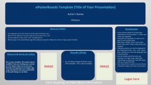 e poster boards template authors name