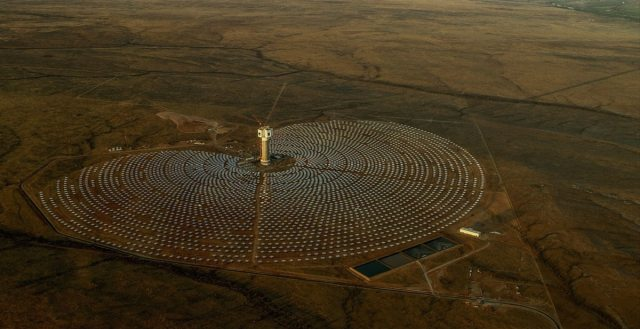 concentrating solar energy