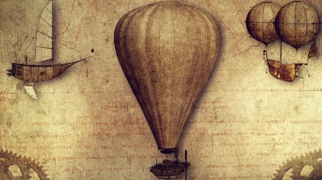 Old age balloon in the sky