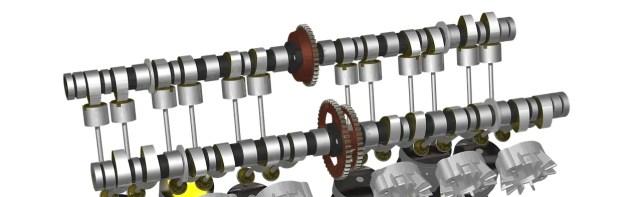 camshaft of car engine
