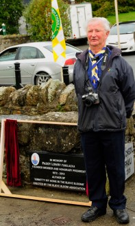 Jack Ryan, Scout Leader speaking at the unveiling of the Paddy Lowry Plaque
